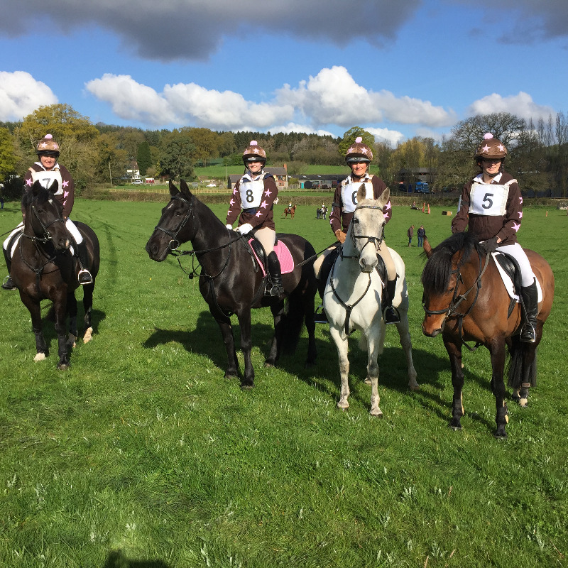 The Wyvern Pink Team at the Merician Hunter Trials on 23 April 2016