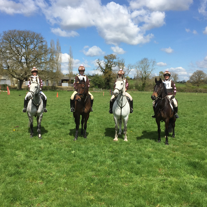 The Wyvern Purple Team in 5th Place at the Merican Hunter Trials on 23 April 2016