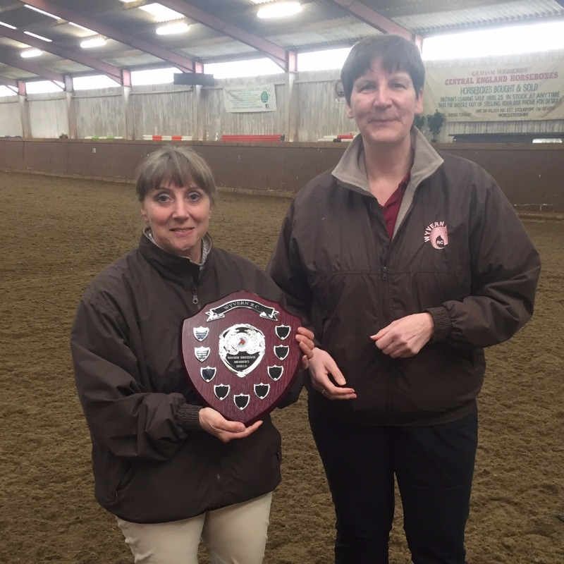 Debbie Taylor is presented with Wyvern Shield for club member with highest number of points